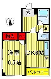 メゾン胡録台[3階]の間取り