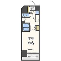 ララプレイス大阪ウエストプライム[15階]の間取り
