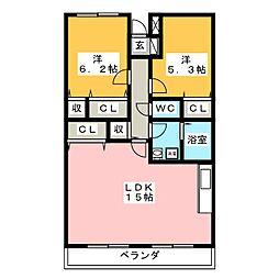 アウローラ桜堤[4階]の間取り