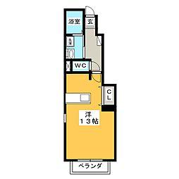 OAZO A棟[1階]の間取り