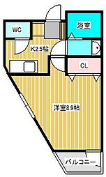 カーサグレーシア松戸[2階]の間取り
