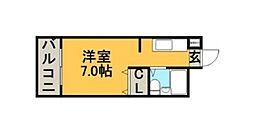 メゾン・ド・香椎参道[616号室]の間取り