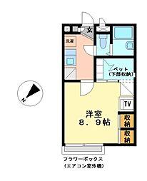 兵庫県加古郡播磨町宮西1丁目の賃貸アパートの間取り