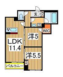 仮)柏の葉ホテルライクシャーメゾン 3階2LDKの間取り