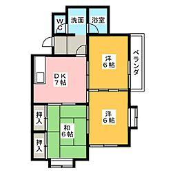 メゾン元町[2階]の間取り