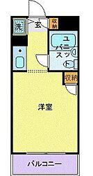 ユーコート武蔵小杉 1階1Kの間取り