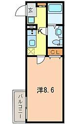 JR山手線 巣鴨駅 徒歩6分の賃貸アパート 3階1Kの間取り