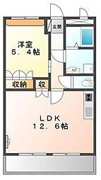 兵庫県姫路市御立中1丁目の賃貸アパートの間取り
