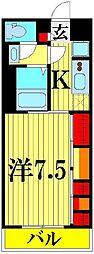 リブリ・トーカク SAITAMA[203号室]の間取り