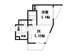 ホーユウコンフォルト二条城前[9階]の間取り