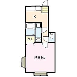 TKアパートメント[1階]の間取り