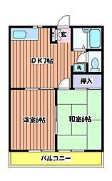 エクラン[2階]の間取り