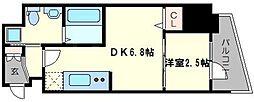 レジデンス難波南 4階1DKの間取り