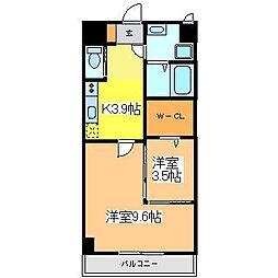 広島県東広島市八本松町正力の賃貸マンションの間取り