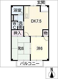 ミサキハイツ[1階]の間取り