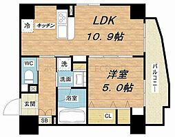 ベラ・ルーナ北梅田[3階]の間取り