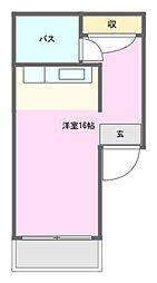 香坂YN[1階]の間取り