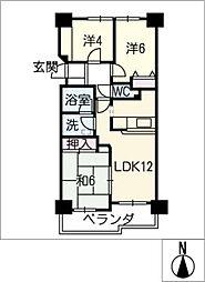 ダイアパレス安城 1105号室[11階]の間取り