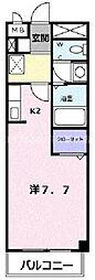 香川県高松市福岡町3丁目の賃貸アパートの間取り