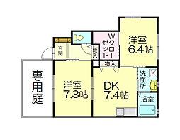 レイクサイド須恵東[1階]の間取り