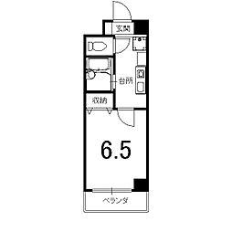 オークセブン[605号室]の間取り