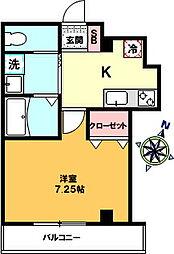 仮)中十条3丁目新築マンション 2階1Kの間取り