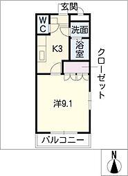 グランベル B棟[1階]の間取り