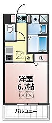 サンスクエア新大阪[3階]の間取り