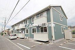 岡山県岡山市中区土田丁目なしの賃貸アパートの外観