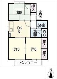 セジュールエポ[1階]の間取り