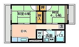 戸ノ上台メイゾン[2階]の間取り