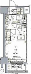 都営浅草線 大門駅 徒歩8分の賃貸マンション 4階1Kの間取り