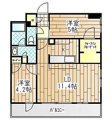 神奈川県厚木市中町1丁目の賃貸マンションの間取り