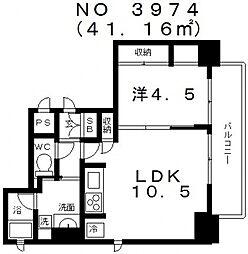 カラムス夕陽ヶ丘[8階]の間取り