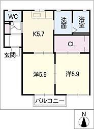 ピア C棟[1階]の間取り