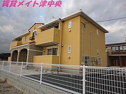 三重県津市河芸町中瀬の賃貸アパートの外観