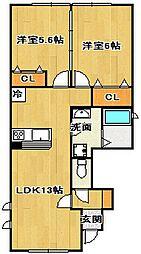 ポドカルパス[1階]の間取り