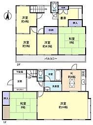 [一戸建] 千葉県船橋市松が丘3丁目 の賃貸【/】の間取り