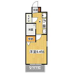 エイペックス京都新京極1[6階]の間取り