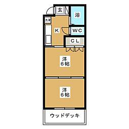 イーグルハイツ小松島I[1階]の間取り