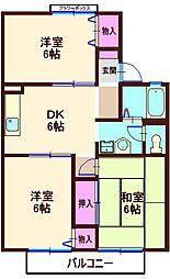 横浜ハウス[105号室]の間取り