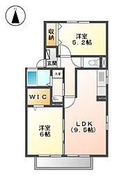 メゾン・ド・ラパン[1階]の間取り