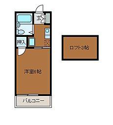 アリスコーポ町田B[1階]の間取り