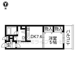 G−CREST京都四条烏丸[6階]の間取り