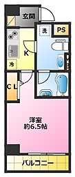 SHOKEN Residence新丸子 9階1Kの間取り