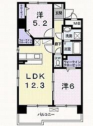 グローヴガーデンE[8階]の間取り