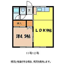 コーポ小林I[1階]の間取り