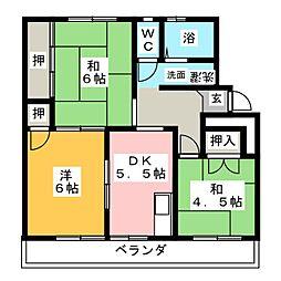 椒房苑[2階]の間取り
