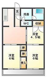 いづみビル[4階]の間取り