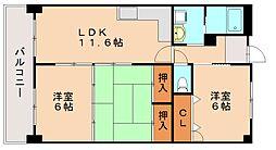 エクセレント36[3階]の間取り